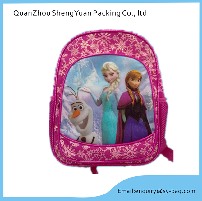 Frozen Mircofiber Girls' Cartoon School Bag