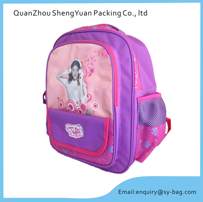 cartoon students Junior school bag books for girls